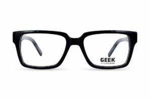 Geek Rogue Black Semi-Square Eyeglasses