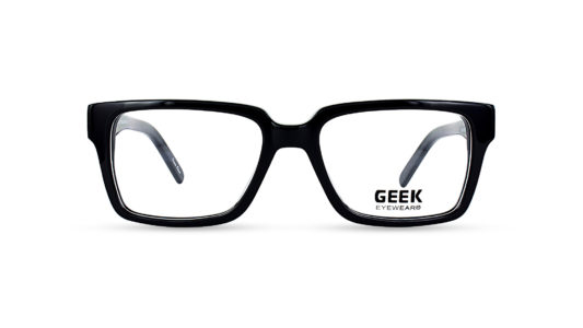 Geek Rogue Black Semi-Square Eyeglasses